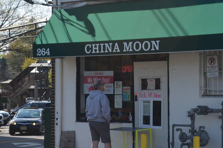 A customer waits for an order at China Moon in Fanwood.