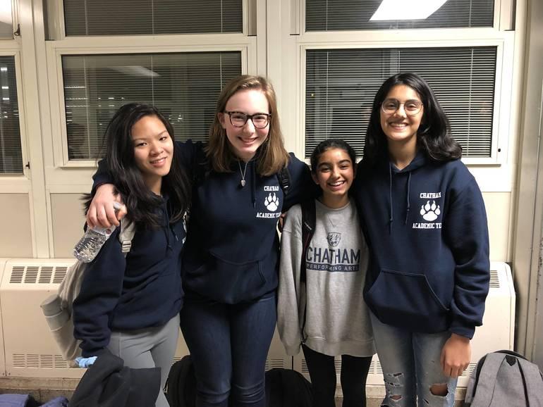 C Team- Carissa Wehring, Captain Siena Cooney, Sara Paul, Amudha Krishnan.jpeg