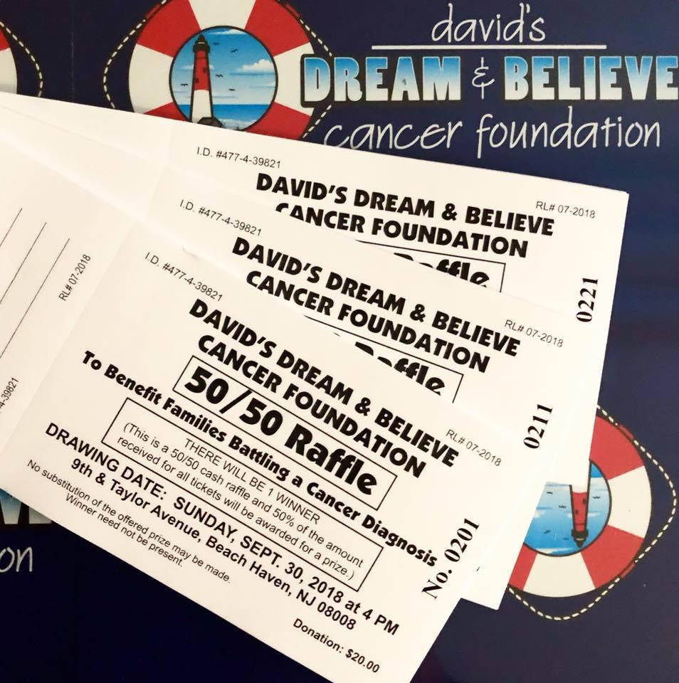 David's Dream & Believe Cancer Foundation 50-50 2018