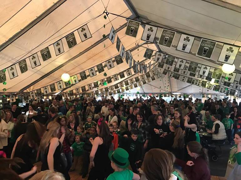 Darby Road St. Patrick's Day Festival tent in Scotch Plains.