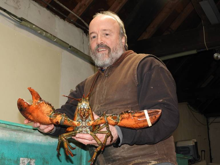 Kevin McGee, House Manager, with a 3 lb Lobster.jpg