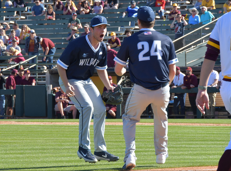Scotch Plains-Fanwood grad Danny Wilkinson pitches for Villanova with Gordon Graceffo.png