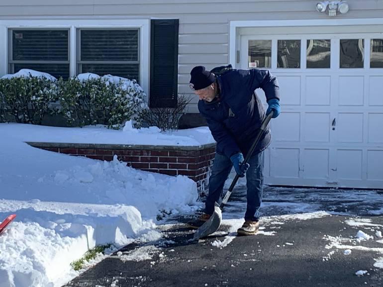 shoveling in Westfield
