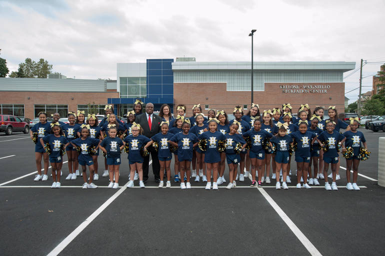 Residents and local sports team attend Mellone-Mariniello's ribbon-cutting ceremony