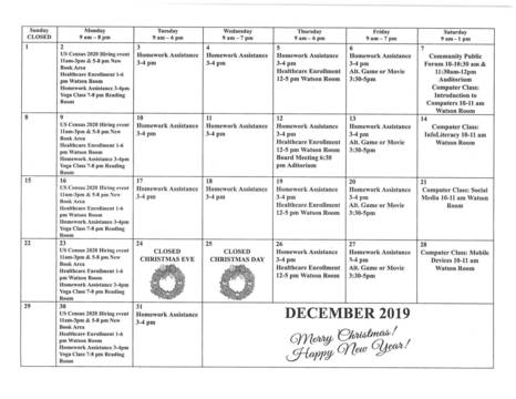 Top story 7c2f4c584a1b76634dd8 dec program calendar pg1 0001