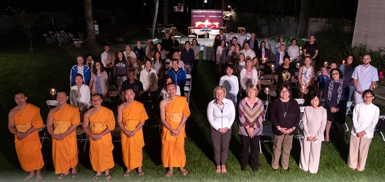 Dhammakaya Meditation Center in Fanwood Holds Candle-Lighting for World Peace.