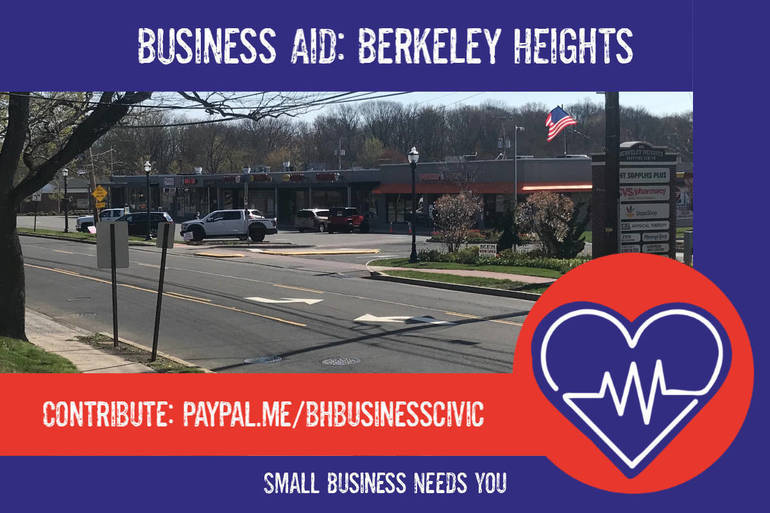 """Business Aid: Berkeley Heights"" Launches Community Fund to Help Local Businesses"