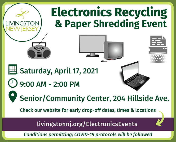 Livingston Installs Electronics Recycling Bin Ahead of Upcoming Recycling Event