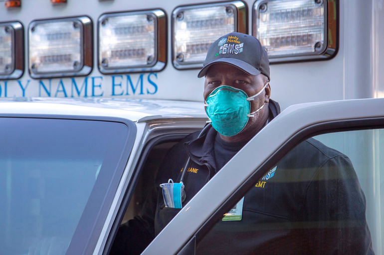 Scenes from the COVID-19 frontlines at Holy Name Medical Center
