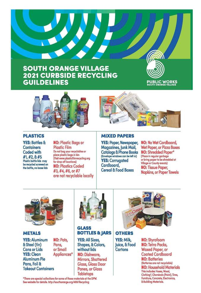 More Plastics Can Be Recycled in South Orange, For Now