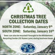 Middletown Recycles:  Township Christmas Tree Pick-Up Begins Soon. See details.