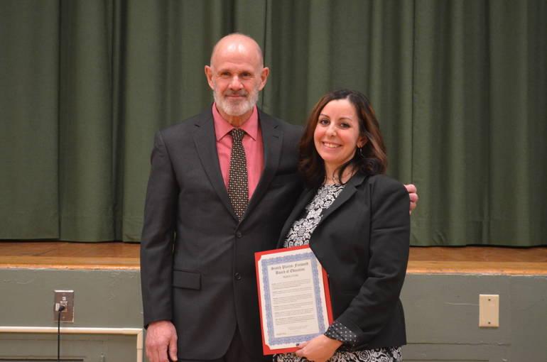 Dr. Heisey and Mrs. Allen - SPFHS Teacher of the Year.JPG