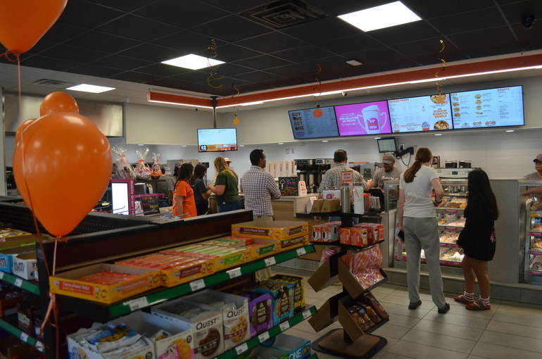 Inside the new Dunkin' Donuts franchise on North Ave. in Scotch Plains on Saturday, Sept. 28