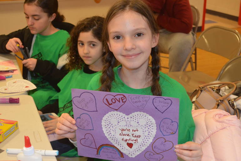 Kids make cards of inspiration at the Fanwood-Scotch Plains YMCA.
