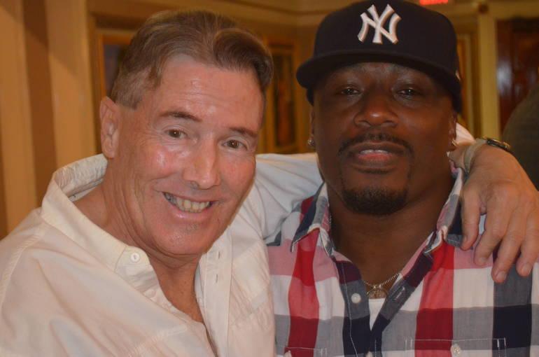 "J.J. ""The Latin Lunatic"" Ramirez with Det. Shawn Johnson at the Scotch Plains PBA Local 87 fundraiser"