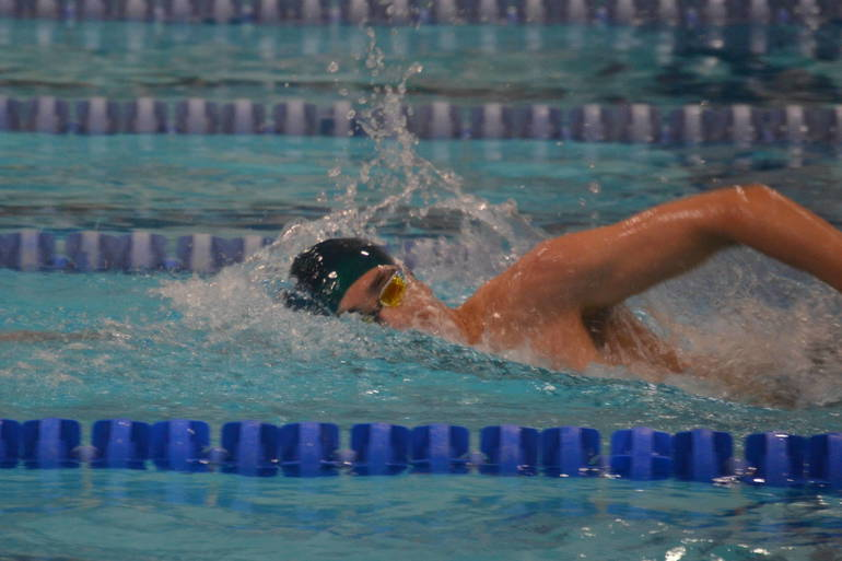 Nathan Borges of Piscataway wins the 500 Freestyle.