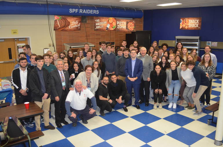 Business owners from Scotch Plains and Fanwood met with high school students