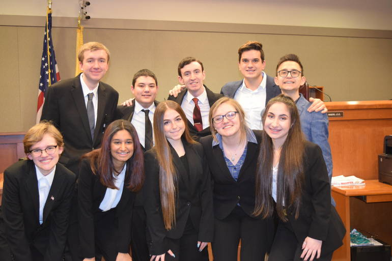 The 2020 Hunterdon Central Mock Trial Team