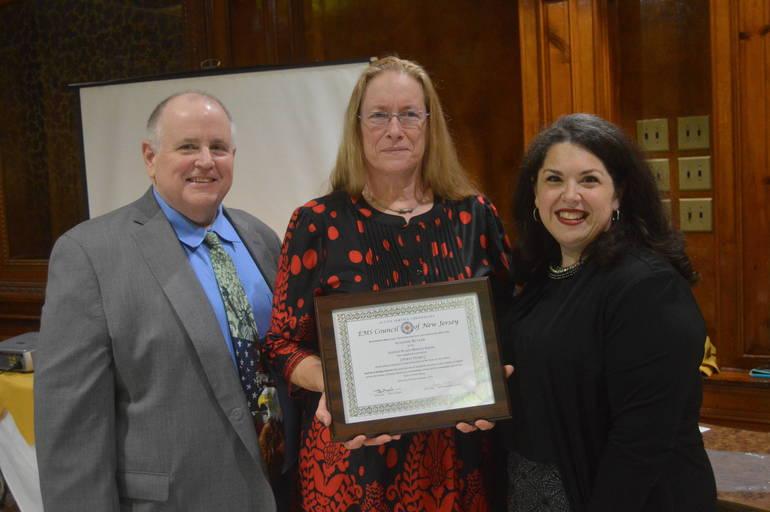Dan Sullivan, Suzanne Butler, and Chief Carolyn Sorge