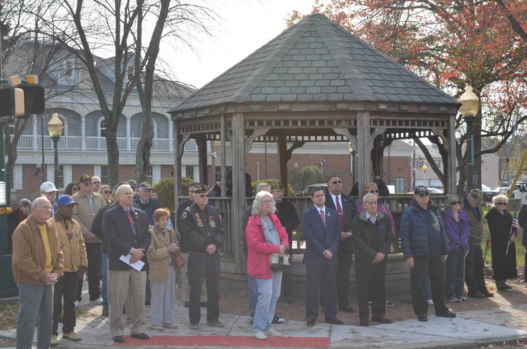 Crowd gathered for Veterans Day ceremonies in Scotch Plains on Nov. 11, 2019.