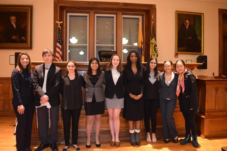 The 2020 North Hunterdon Mock Trial Team