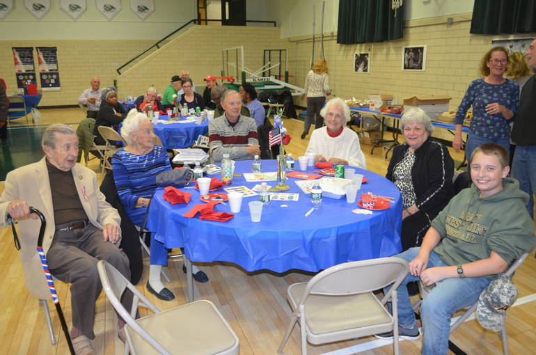 Scenes from the annual Veterans Luncheon at St. Bart's Academy in Scotch Plains.