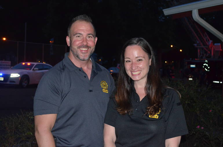 Scenes from Fanwood's National Night Out.