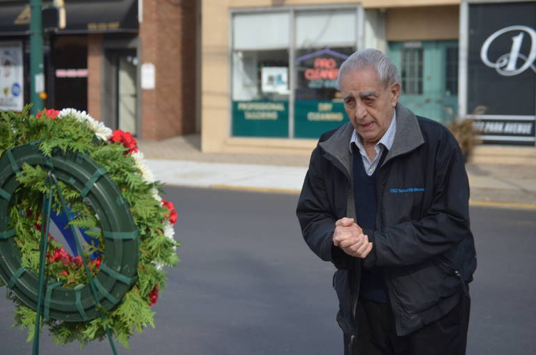 WWII vet honors fallen comrades at Veterans Day service in Scotch Plains.