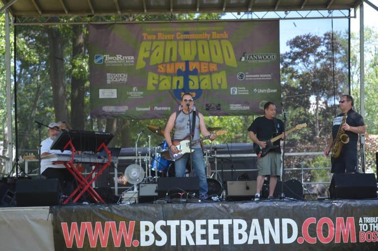 B Street Band headlined Fanwood's annual Fan Jam Music Festival.