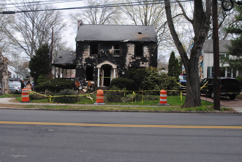 Fire at 244 N. Martine Avenue in Fanwood.