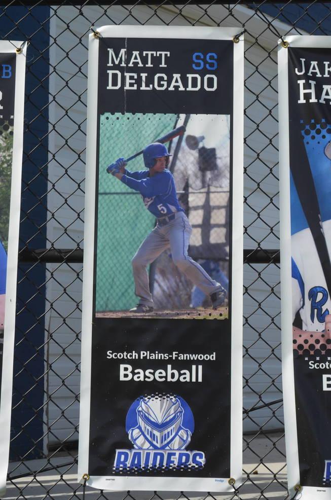 Scotch Plains-Fanwood baseball player Matt Delgado