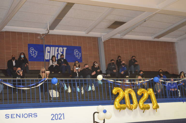 Scotch Plains-Fanwood girls volleyball honored its seniors on Thursday, April 1.
