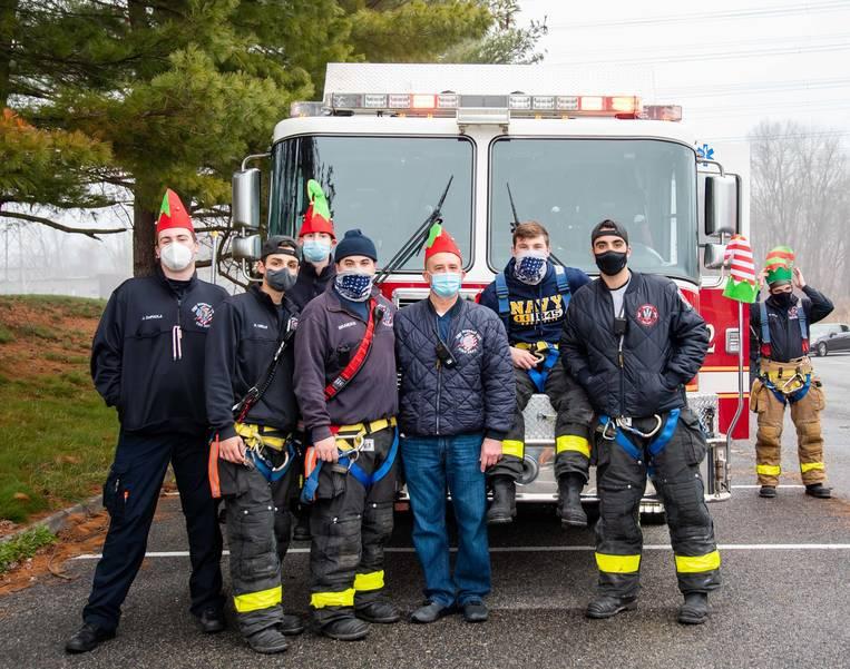 Photos: Mohegan Fire Department Hosts Winter Wonderland Car Parade
