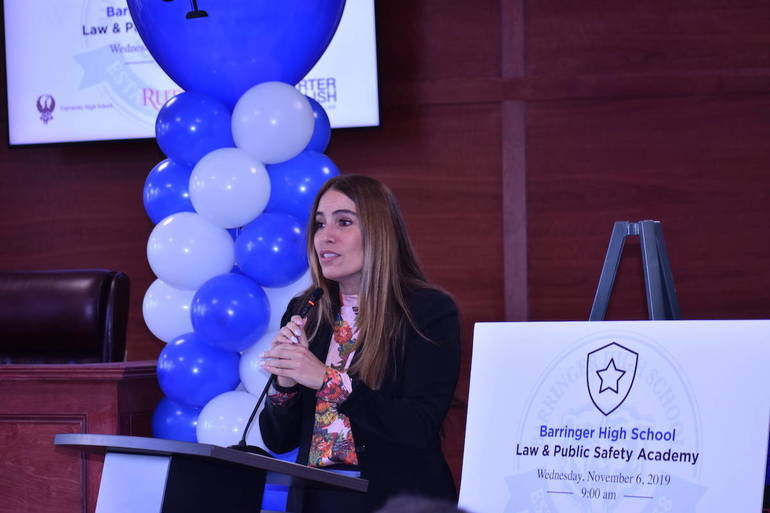 Language In 45 And 47 Stella Street: Law And Public Safety Academy Opens Doors At Barringer