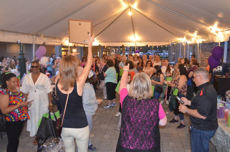 Tricky Tray prizes are given out at Ladies Night in Fanwood.