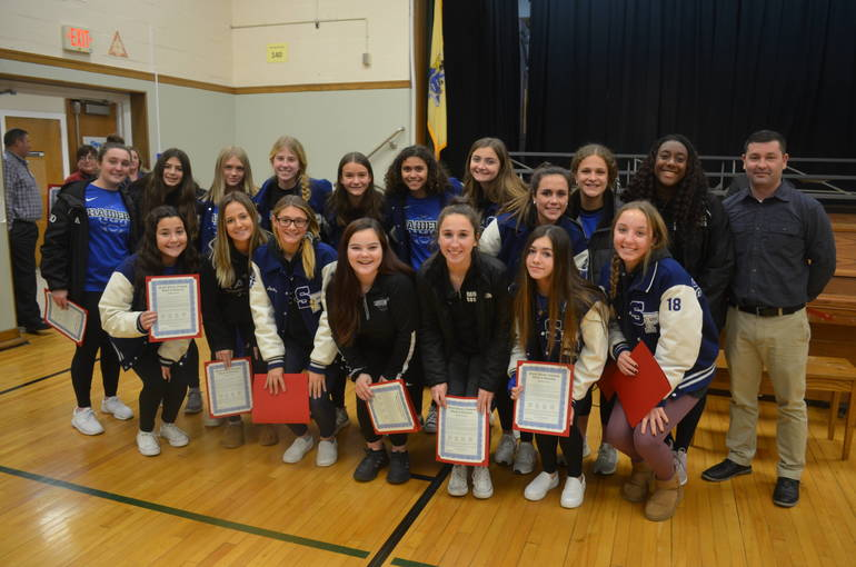 Girls varsity soccer was honored at the Scotch Plains-Fanwood Board of Education meeting.