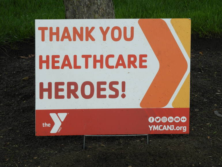 Governor Murphy Thanks Red Bank YMCA Healthcare Hero's