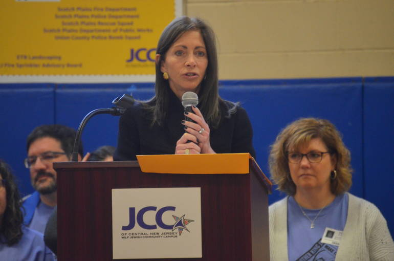 New Jersey's First Lady Tammy Murphy spoke at the MLK Day of Service in Scotch Plains-Fanwood.