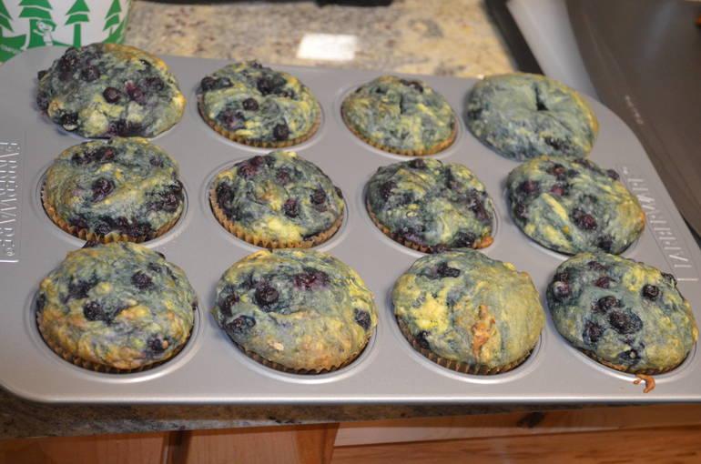 Vegan blueberry muffins at MettaCasa in Scotch Plains.