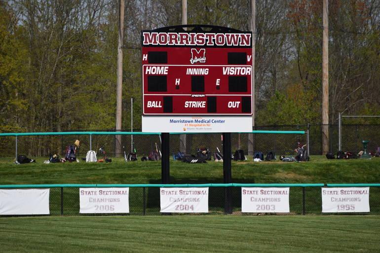 Atlantic Health System Donates Scoreboard to Morristown Varsity Baseball, Softball Teams