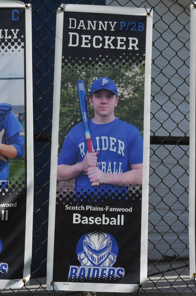 Scotch Plains-Fanwood baseball player Danny Decker