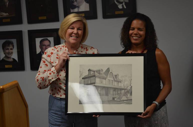 Fanwood Mayor Colleen Mahr and Michele Moore
