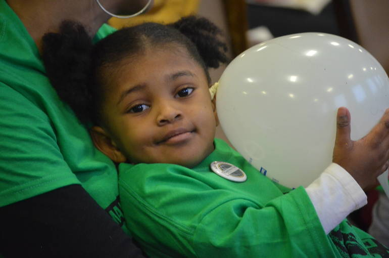 Young attendee at the MLK Day of Service in Scotch Plains-Fanwood.