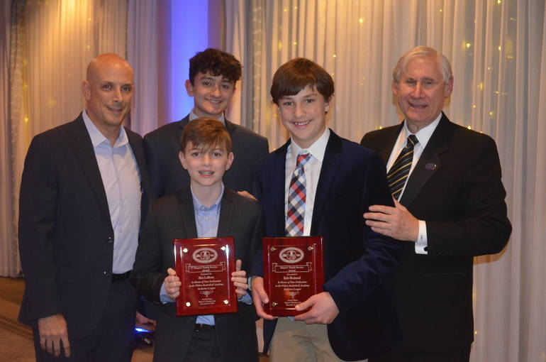 Wolves Academy honorees at the 2019 Scotch Plains Mayor's Gala