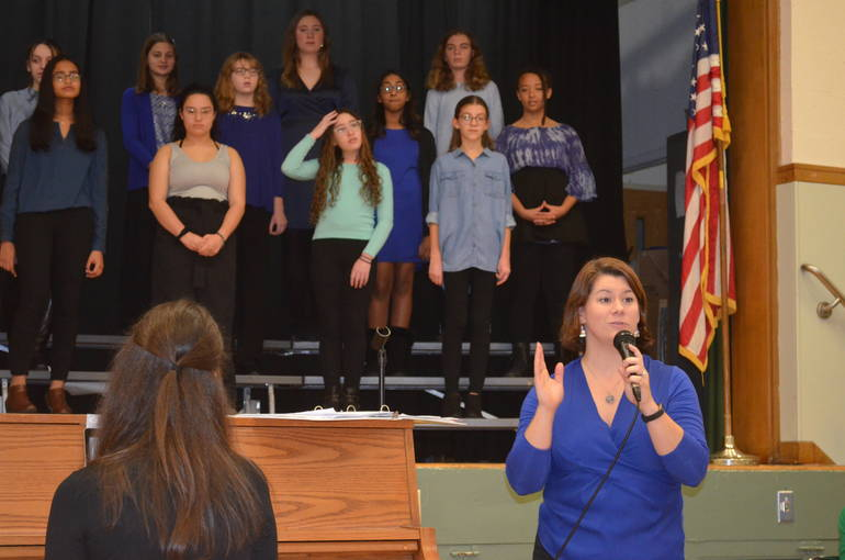 The Park Middle School Blue Notes performed at the Scotch Plains-Fanwood Board of Education meeting.