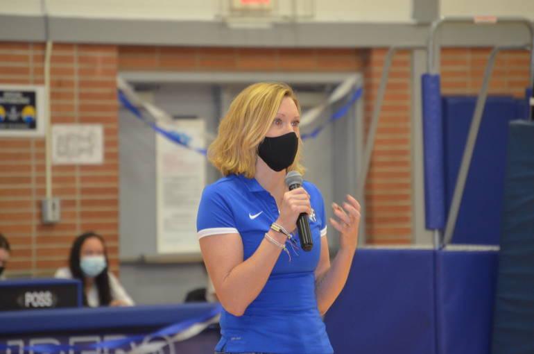 Scotch Plains-Fanwood girls volleyball coach Adrienne Stack.