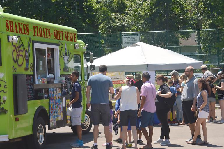 Food trucks at Fanwood Summer Fan Jam