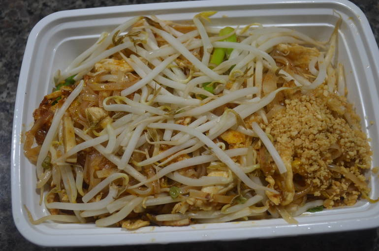 Chicken Pad Thai from newly opened Tasty Thai in Fanwood.