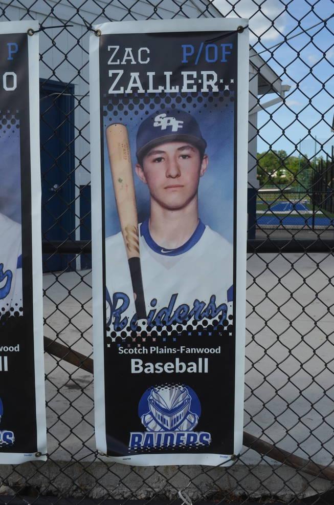 Scotch Plains-Fanwood baseball player Zac Zaller
