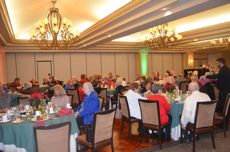 Scenes from the Fanwood Seniors' Holiday Luncheon at Shackamaxon Country Club in Scotch Plains.